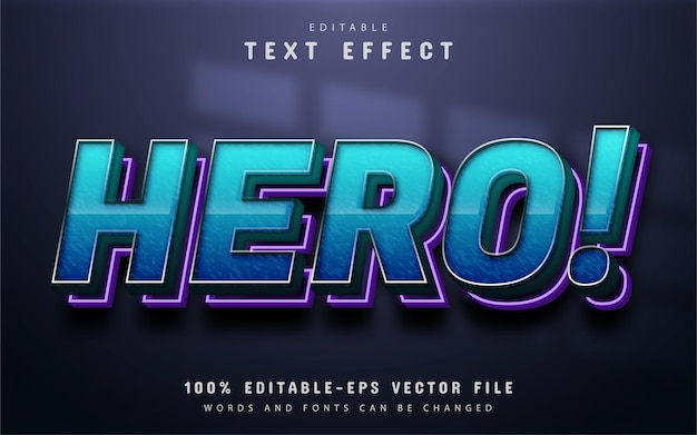 Hero text, blue gradient text effect