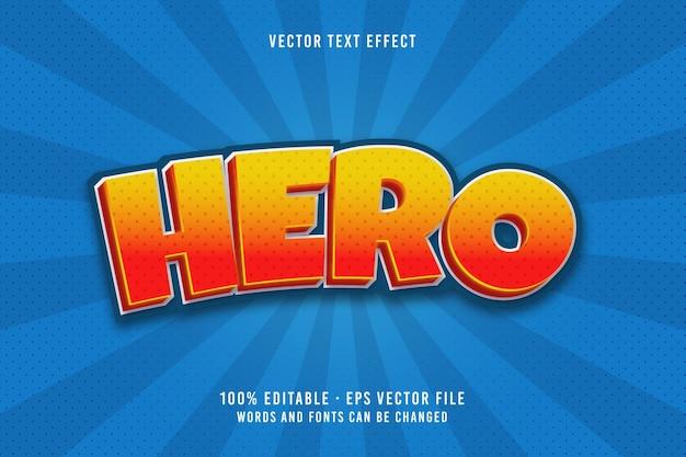 영웅 텍스트 편집 가능한 글꼴 효과
