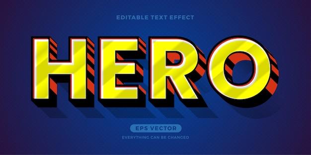 Текстовый эффект героя