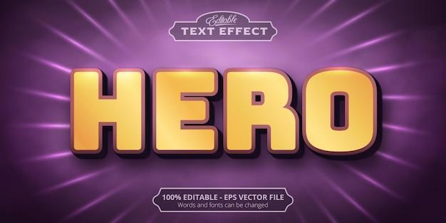 Hero text, neon style editable text effect