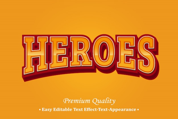 Heroes 3d font style effect
