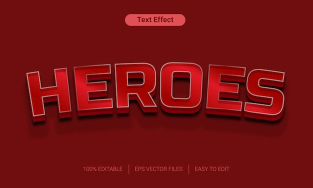Heroes 3d style text effect