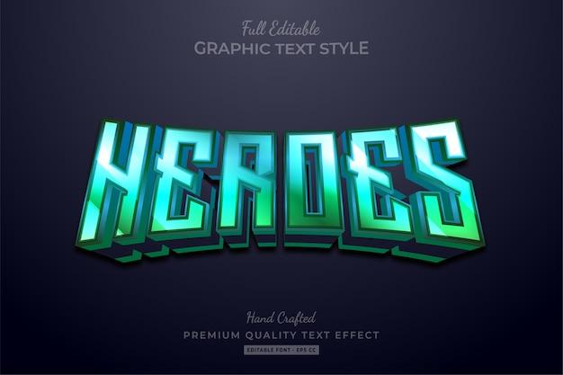 Редактируемый текстовый эффект премиум-класса с градиентом для героев 80-х