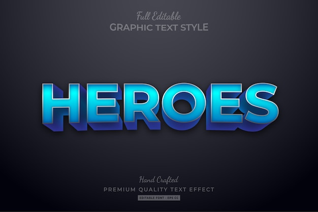 Heroes movie editable text style effect