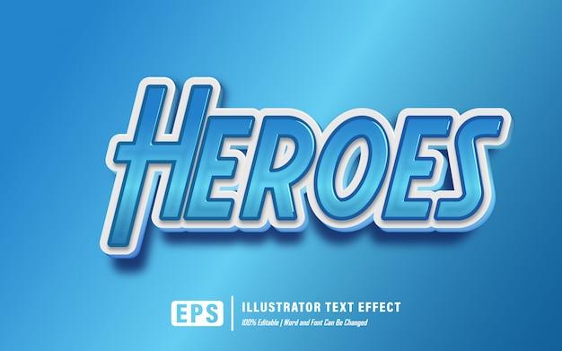 Текстовый эффект героев - редактируемый