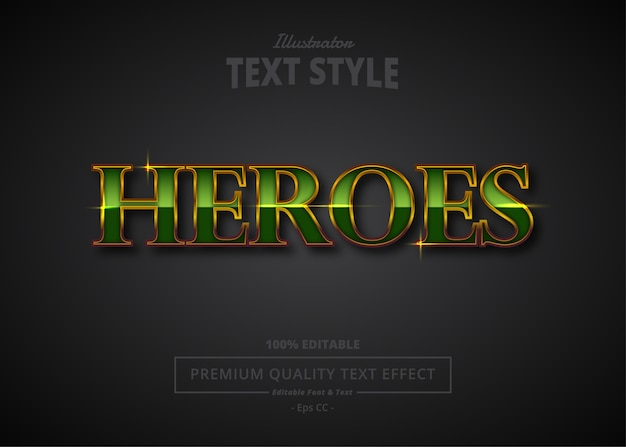 Heroes  text effect
