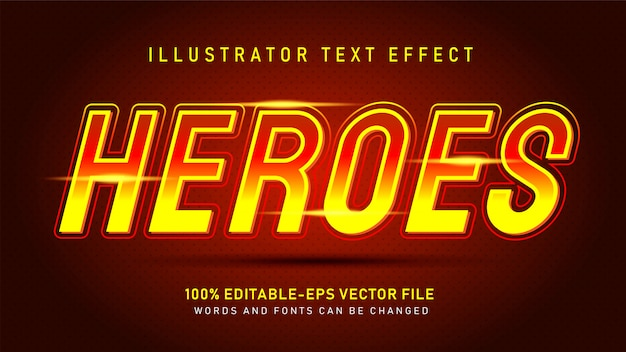 Heroes text style effect
