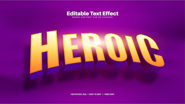 Heroic text effect