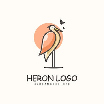 Heron concept illustration template