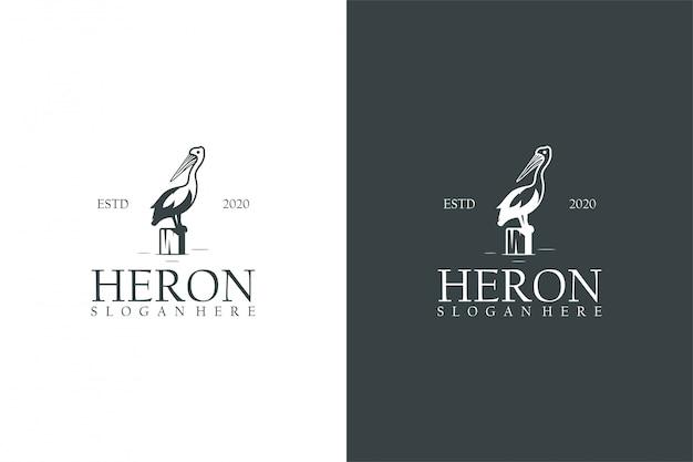 Концепция логотипа heron