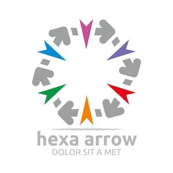 Hexa arrowsロゴデザイン