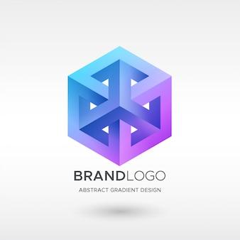 Hexa gradient logo