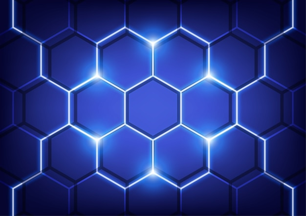 Hexa wall, technology vector concept.