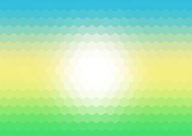 Sfondo di mosaico esagonale con colori primaverili