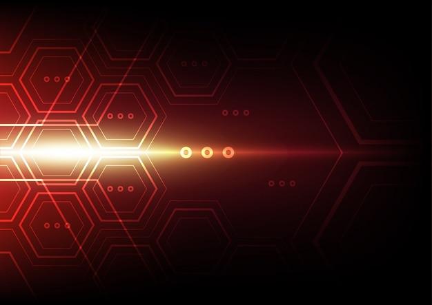 Абстрактный фон технологии шестиугольника