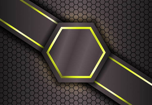 Hexagon background in gold light