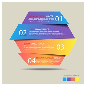 Hexagon banner infographic template