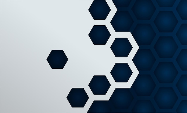 Hexagon bee hive with paper art background vector illustration