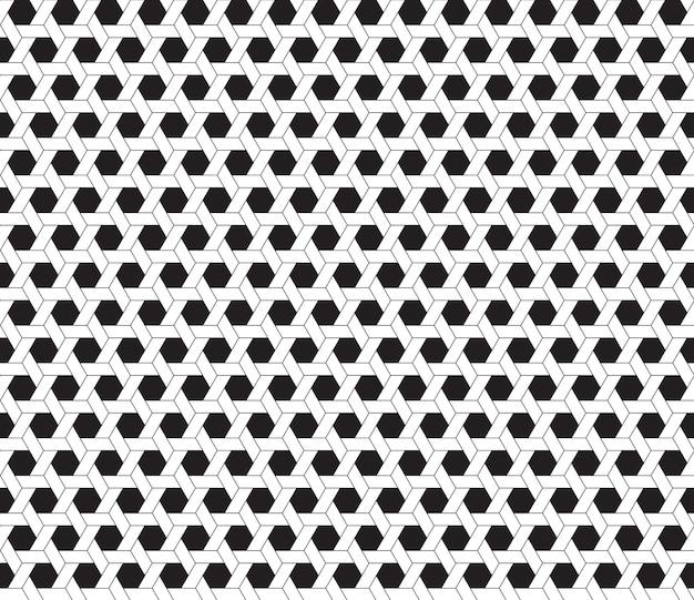육각형 검은 색과 흰색 배경