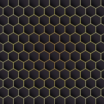 Hexagon black background