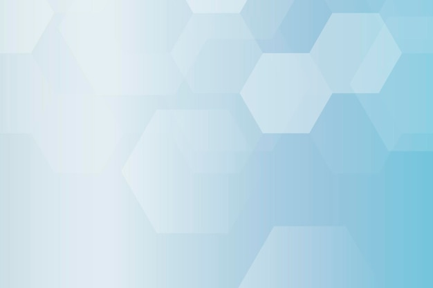 Шестиугольник синий фон