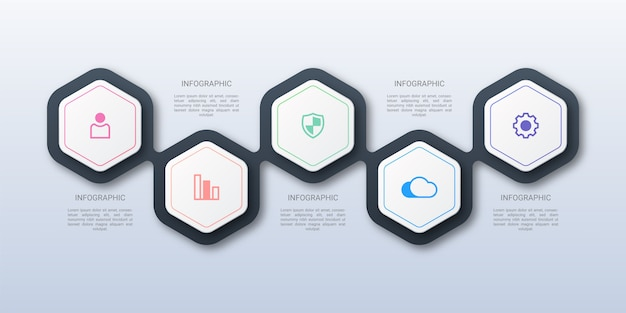 Hexagon business infographic