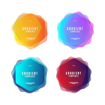 육각형 색상 모양