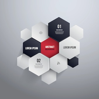 Hexagon design. can be used for infographics or website layout