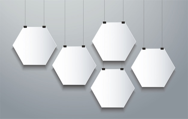 Hexagon frame  background