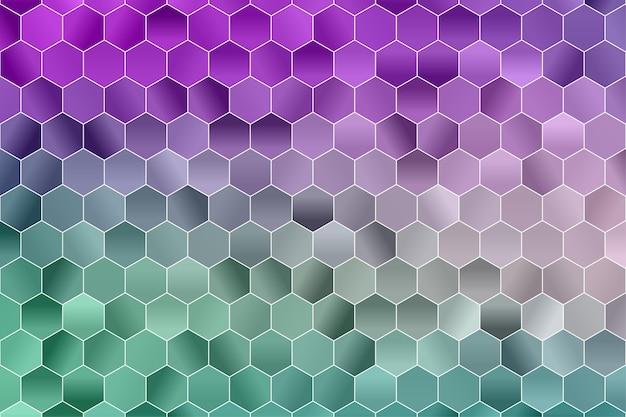 육각형 기하학적 배경. 다각형 벽지. 육각 완벽 한 패턴입니다. 프리미엄 벡터
