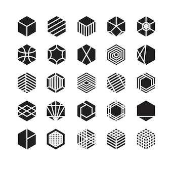 Hexagon geometric vector icon