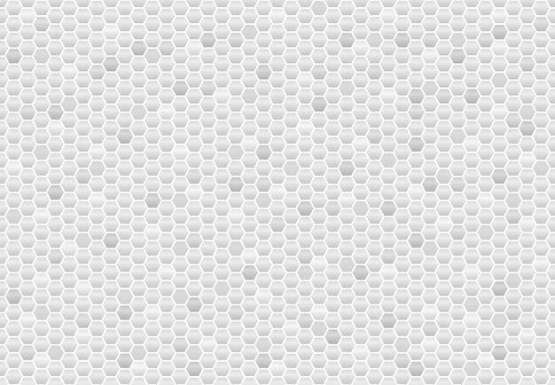 六角形のグレーカーボンシームレスパターン。抽象的な背景