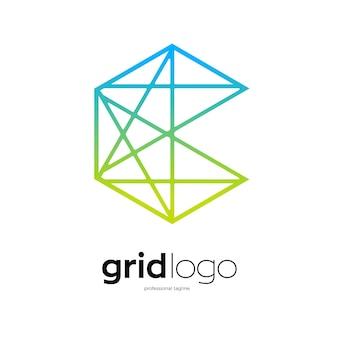 Hexagon grid logo design