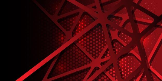 抽象的な形の六角形のハーフトーン