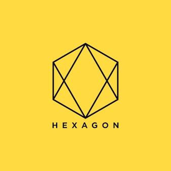 Hexagon icon design