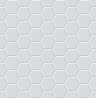 六角形の光3 dの幾何学的なシームレスパターン