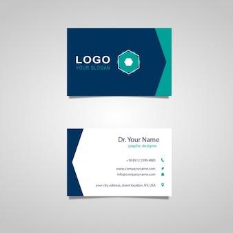 Hexagon logo card