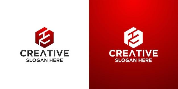 Hexagon logo design inspiration premium