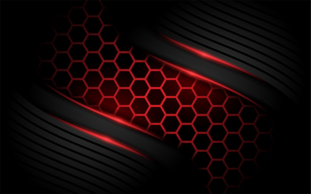 Hexagon modern red background