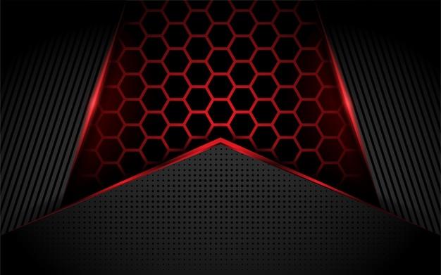 육각형 현대 빨간색 배경
