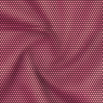 Hexagon mosaic background reddish pink fabric