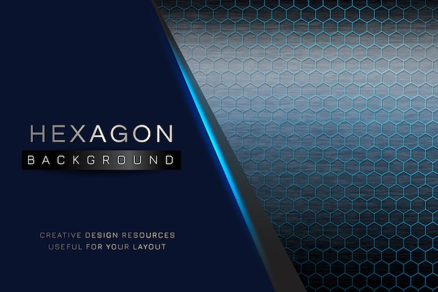 Hexagon patterned background