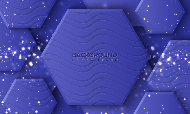Hexagon purple background with 3d style