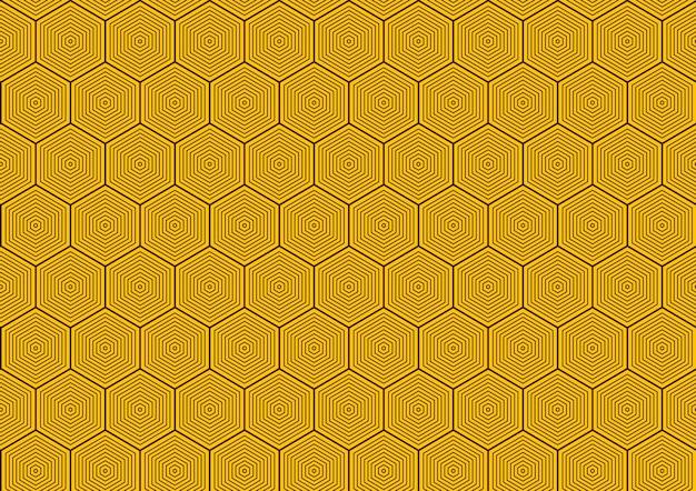 六角形のシームレスなパターンの抽象的な背景。