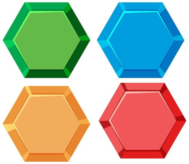 육각형 모양의 아이콘 버튼