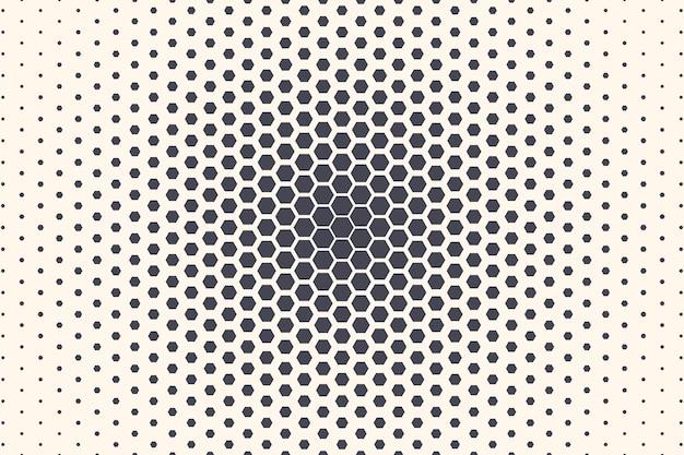 六角形の抽象的な幾何学的な放射状テクスチャ抽象的な背景