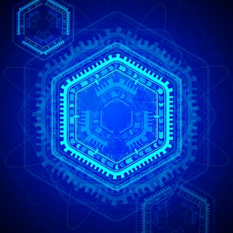 Hexagon technology background design