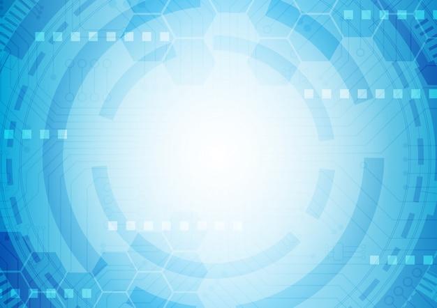 六角形の技術の背景にソフトな回路基板ハイテクデジタルデータ接続システム、コンピューター電子