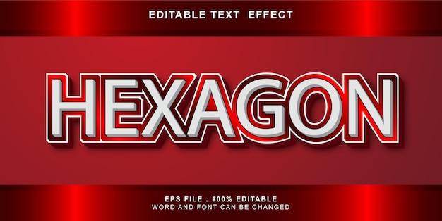 Hexagon text effect editable