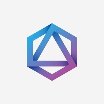 Hexagon triangle logo
